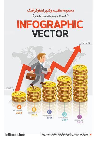 مجموعه وکتور اینفوگرافیک InfoGraphic Vector