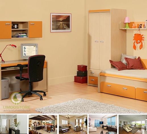 طراحی دکوراسیون فضای داخلی اتاق نشیمن