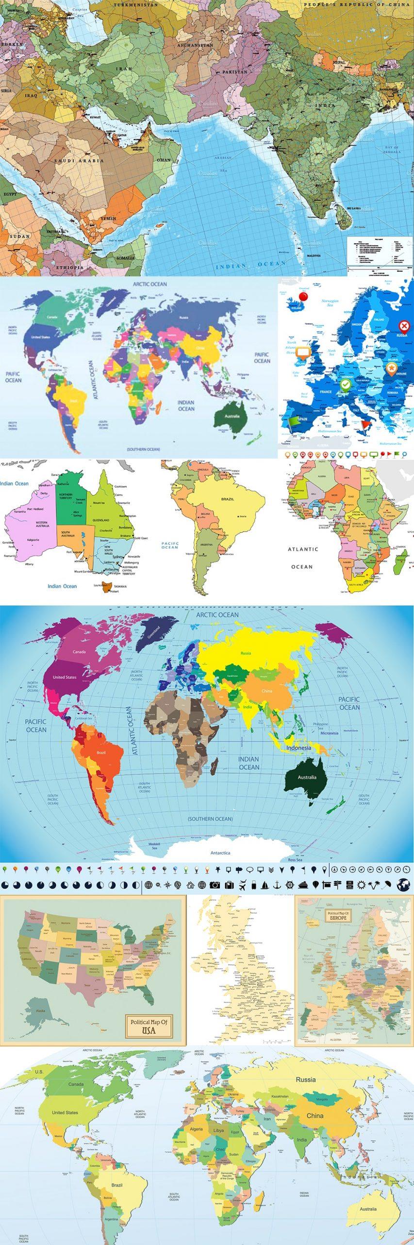 خرید وکتور نقشه جهان